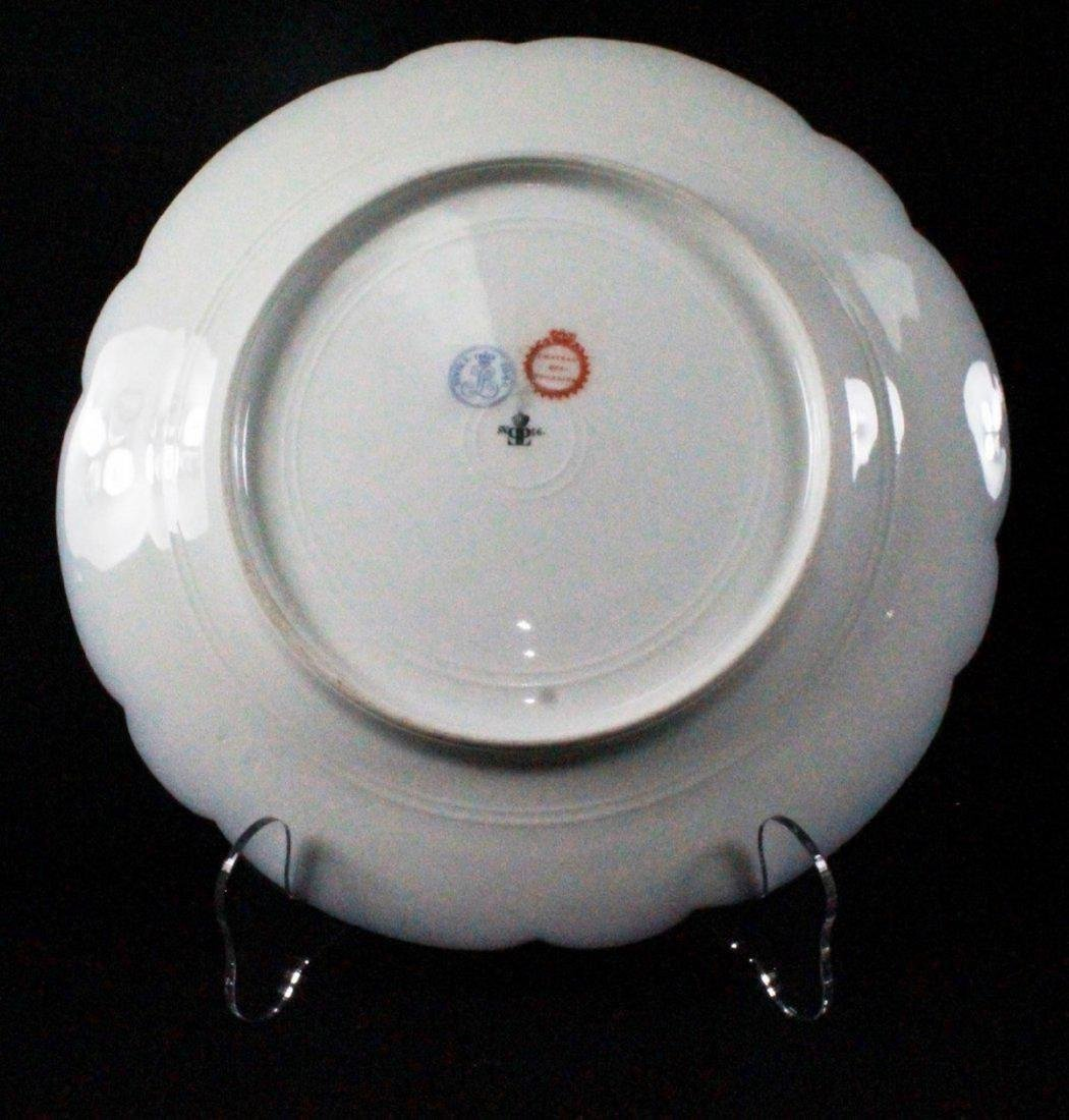 19Th C French Sevres Porcelain Cabinet Plate: King - 4