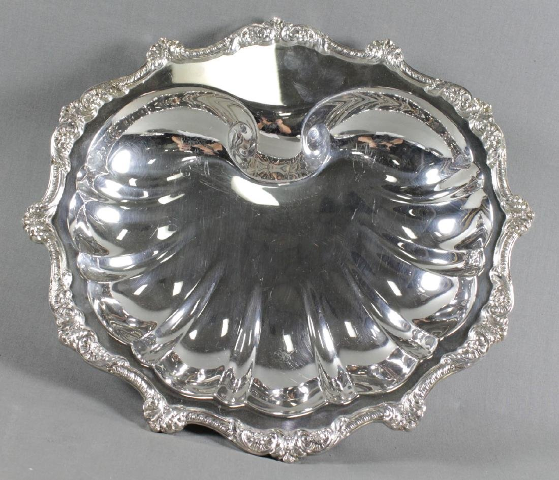 Pair Of Silverplated Shell Dishes - 2