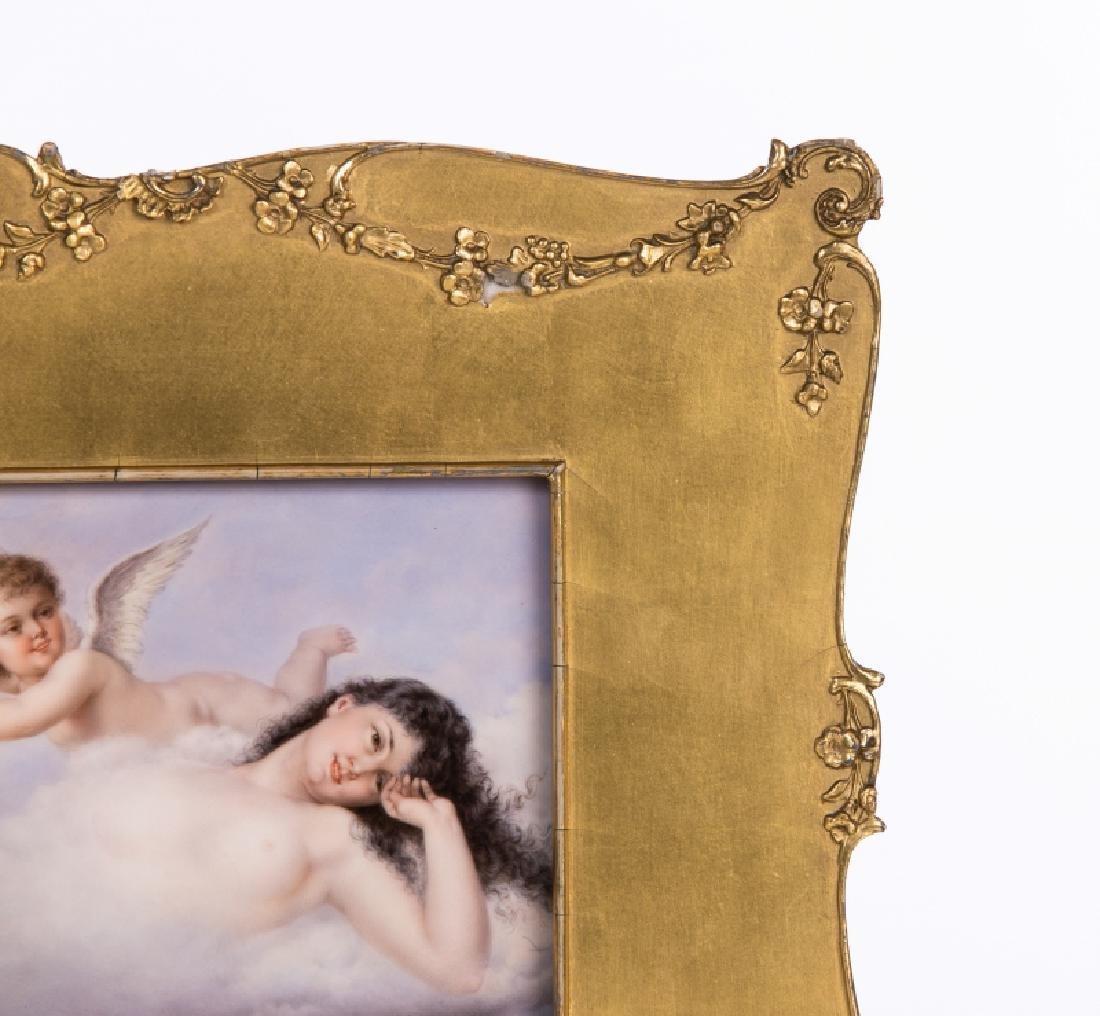 19Th C. Kpm Hand Painted Porcelain Plaque Woman W/ A - 3