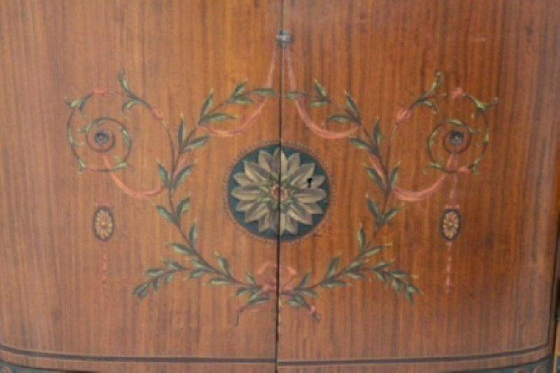 Louis Xv Style Polychrome Satinwood Side Cabinet - 2