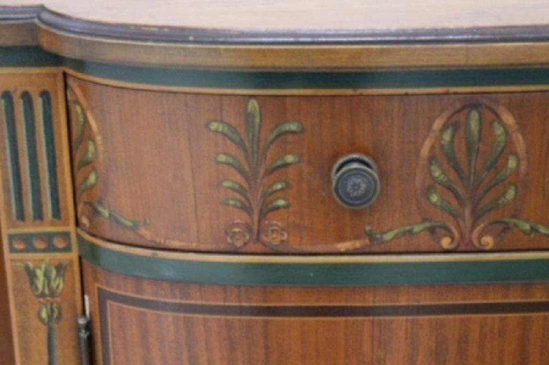 Louis Xv Style Polychrome Satinwood Side Cabinet - 3