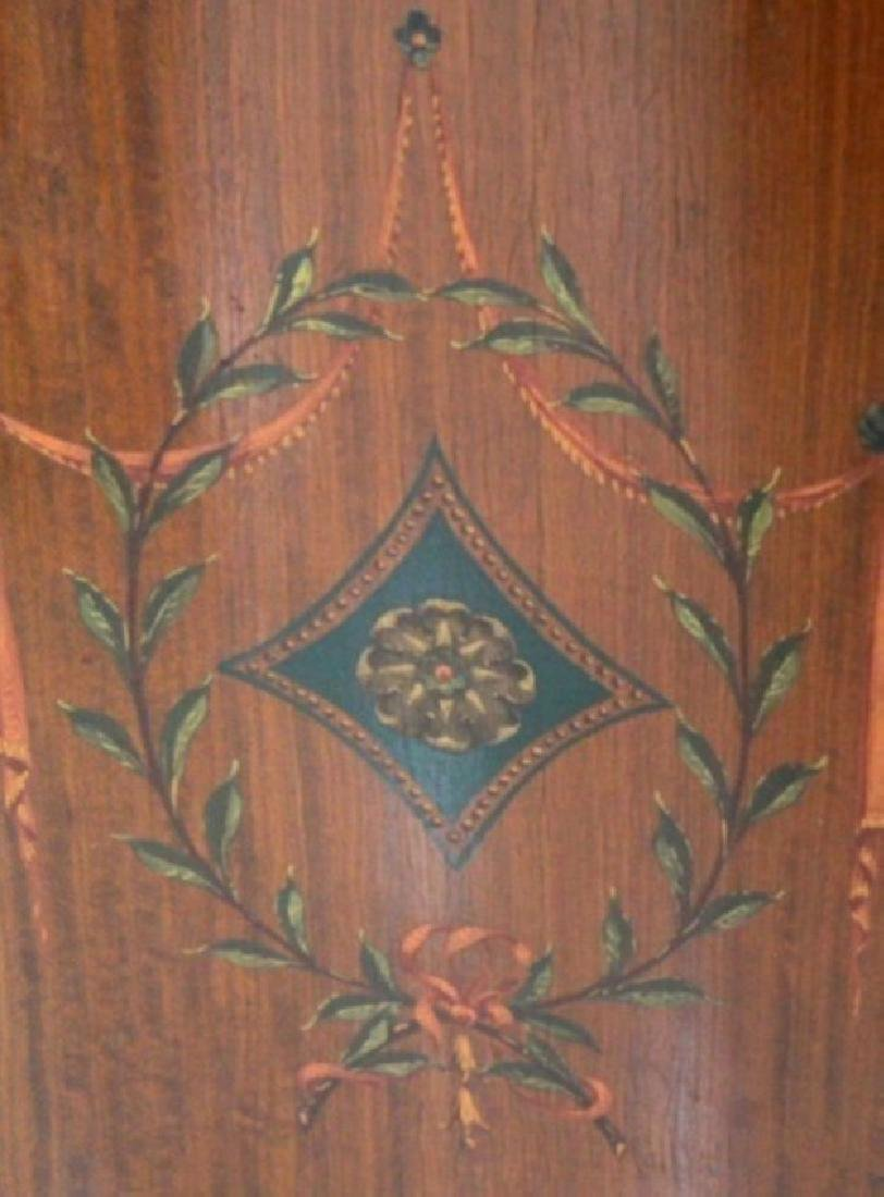 Louis Xv Style Polychrome Satinwood Side Cabinet - 4
