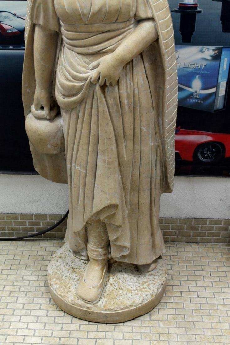 """Large Italian Carved Marble Figure Of Maiden H: 47"""" - 2"""