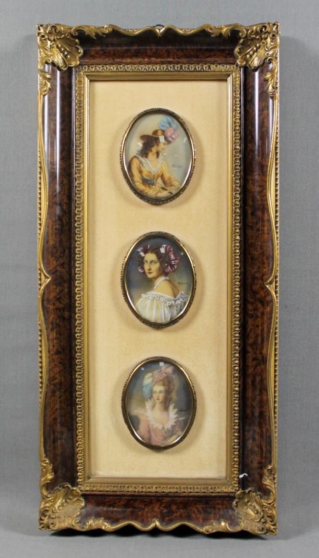 3 Miniature Plaques Framed