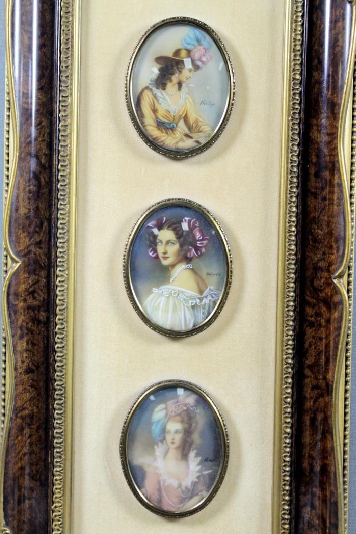 3 Miniature Plaques Framed - 2