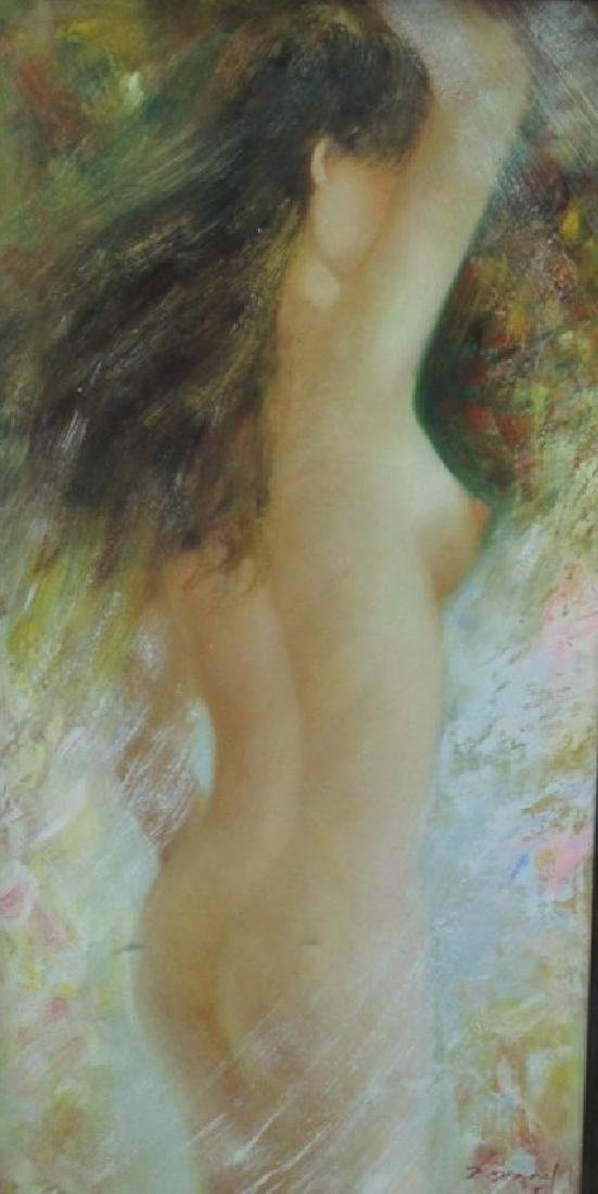 Original Oil Nude, Oil On Canvas Nude Signed Z. Danny - 2