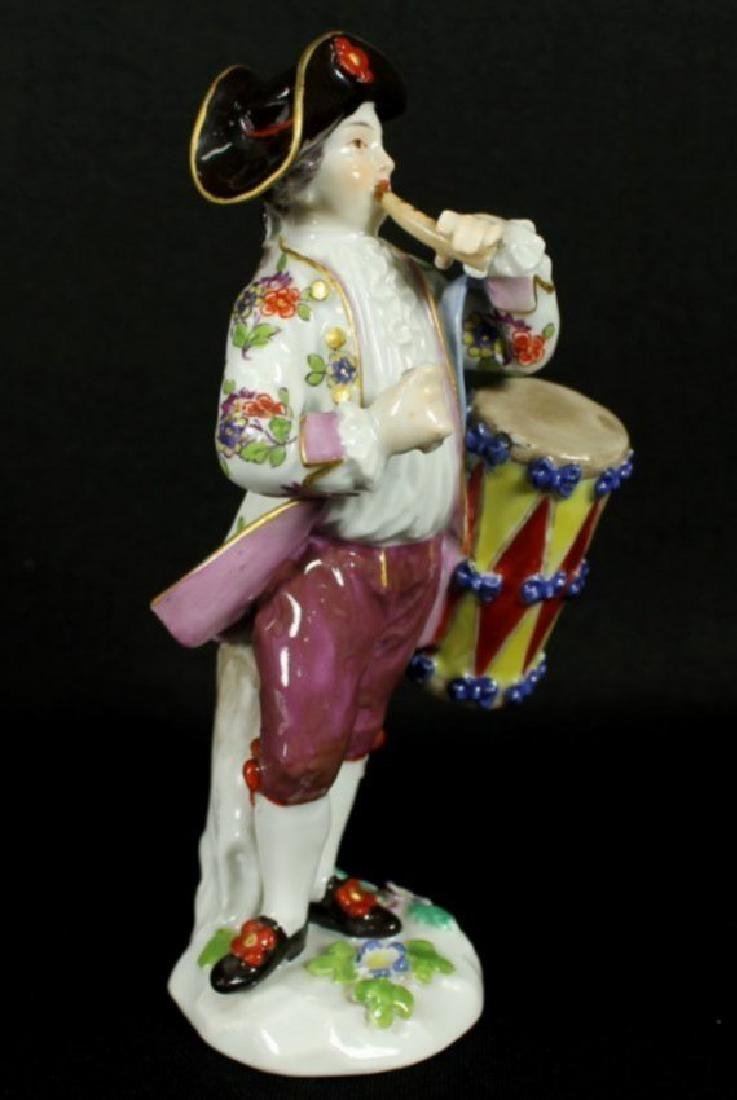 Meissen Boy With Drum And Flute - 2