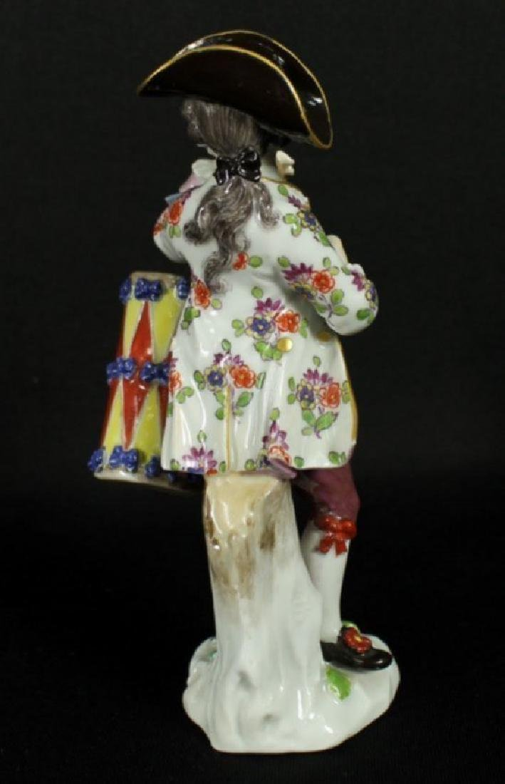 Meissen Boy With Drum And Flute - 3