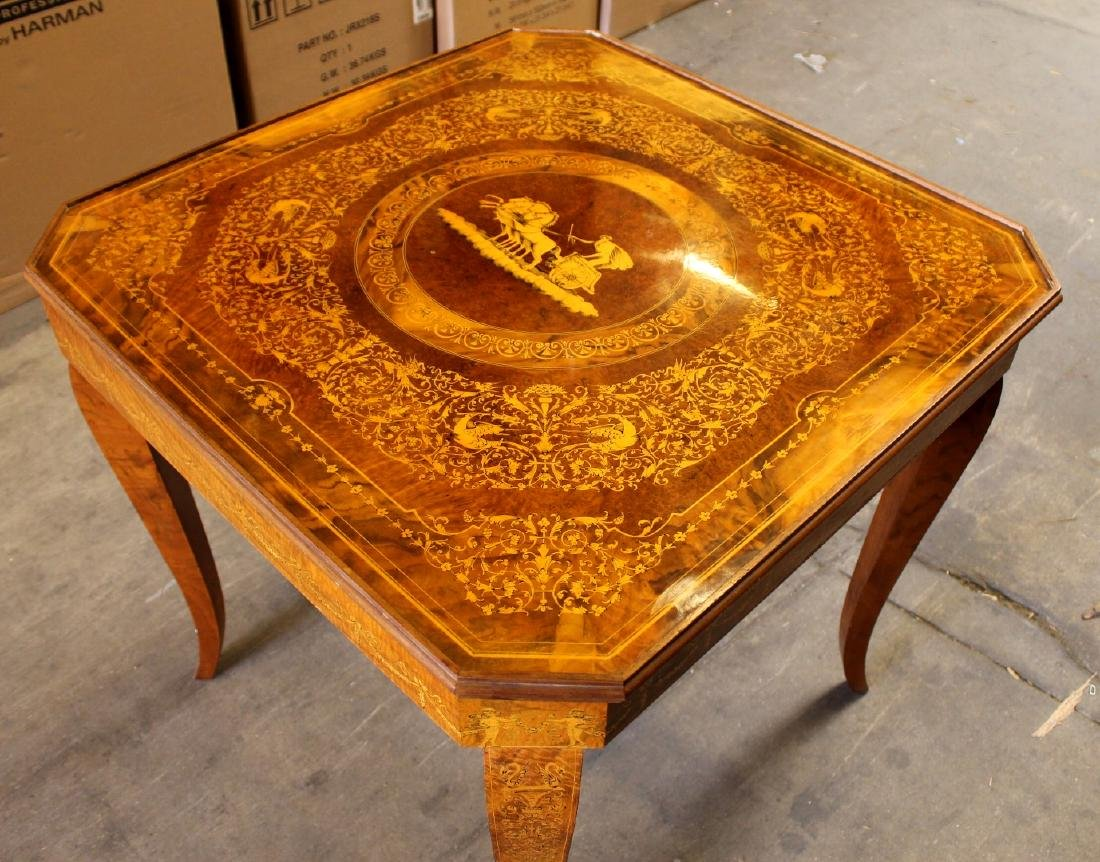 Italian Inalid Multi Game Table W/ Game Pieces - 2