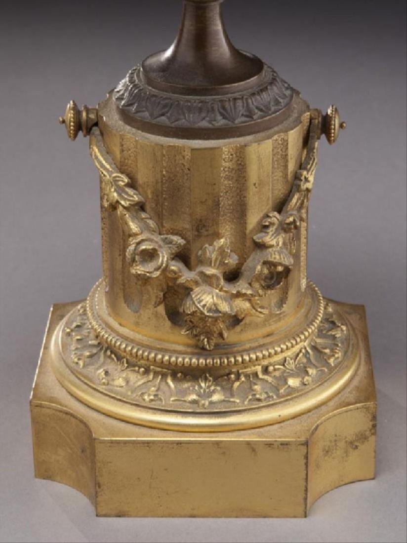 Pr. Gilt And Patinated Bronze Tazza - 4