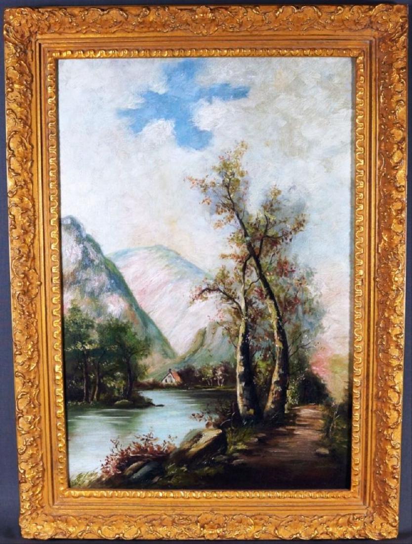 Alpine Lake Scene Painting