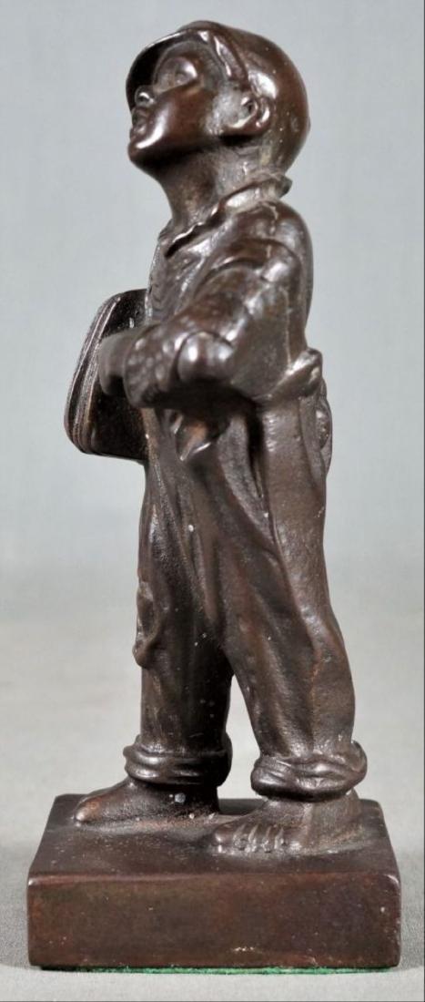 Small Bronze Figure Of A Boy - 2