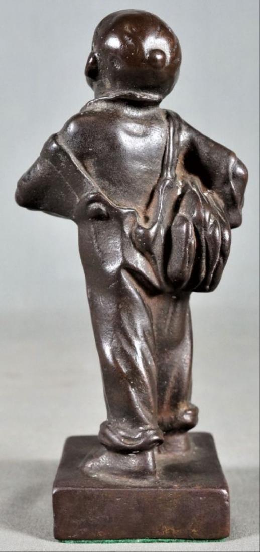 Small Bronze Figure Of A Boy - 3