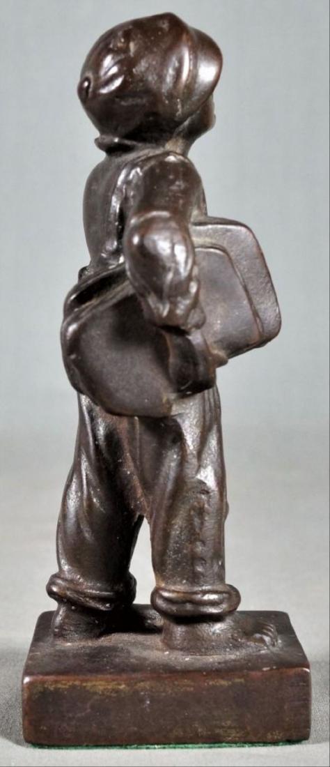 Small Bronze Figure Of A Boy - 4