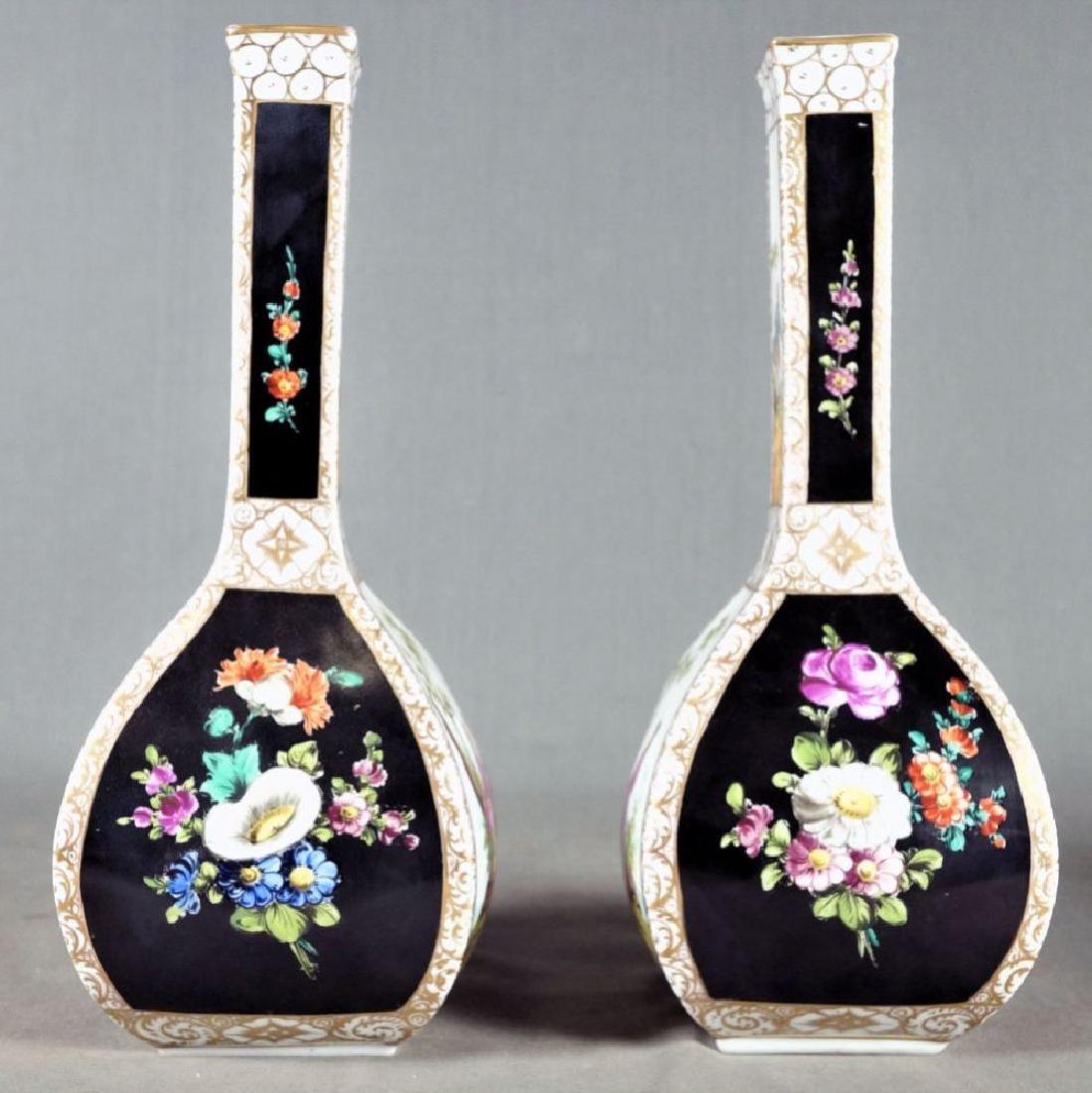 Pair Of Dresden Porcelain Vases - 2