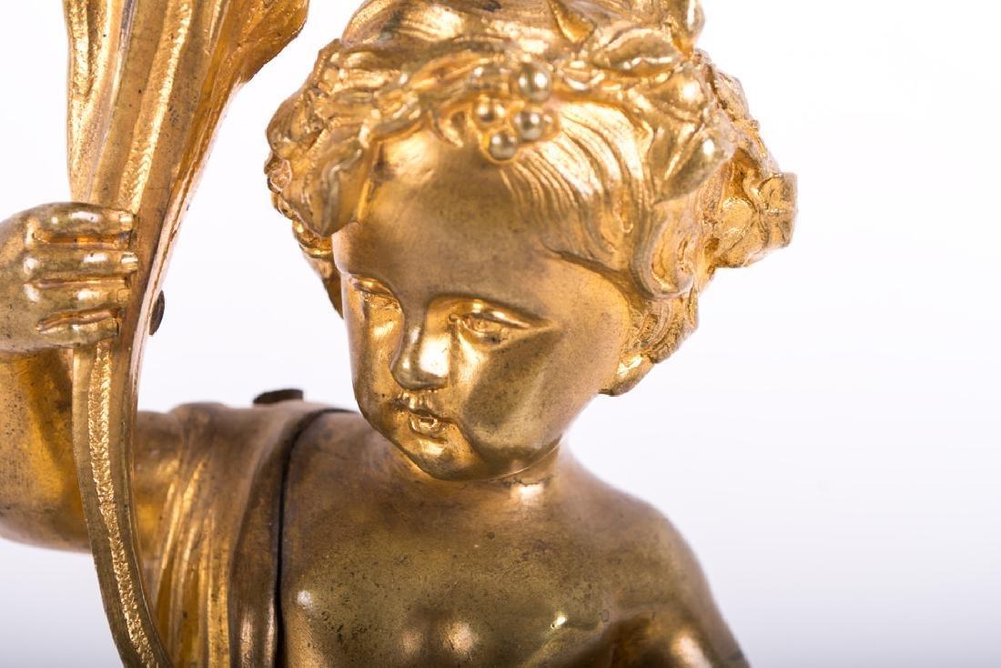 Pair Of Louis Xv Style Gilt Bronze Figural Candelabra - 3