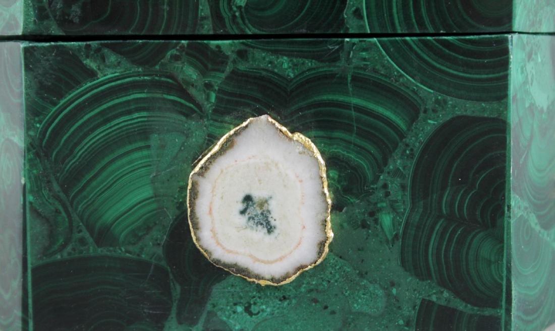 Jewelled Russian Malachite Box - 2