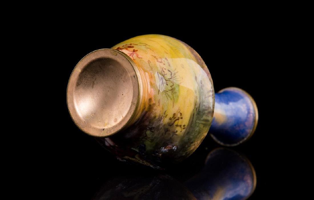 Antique French Enamel Miniature Vase - 4