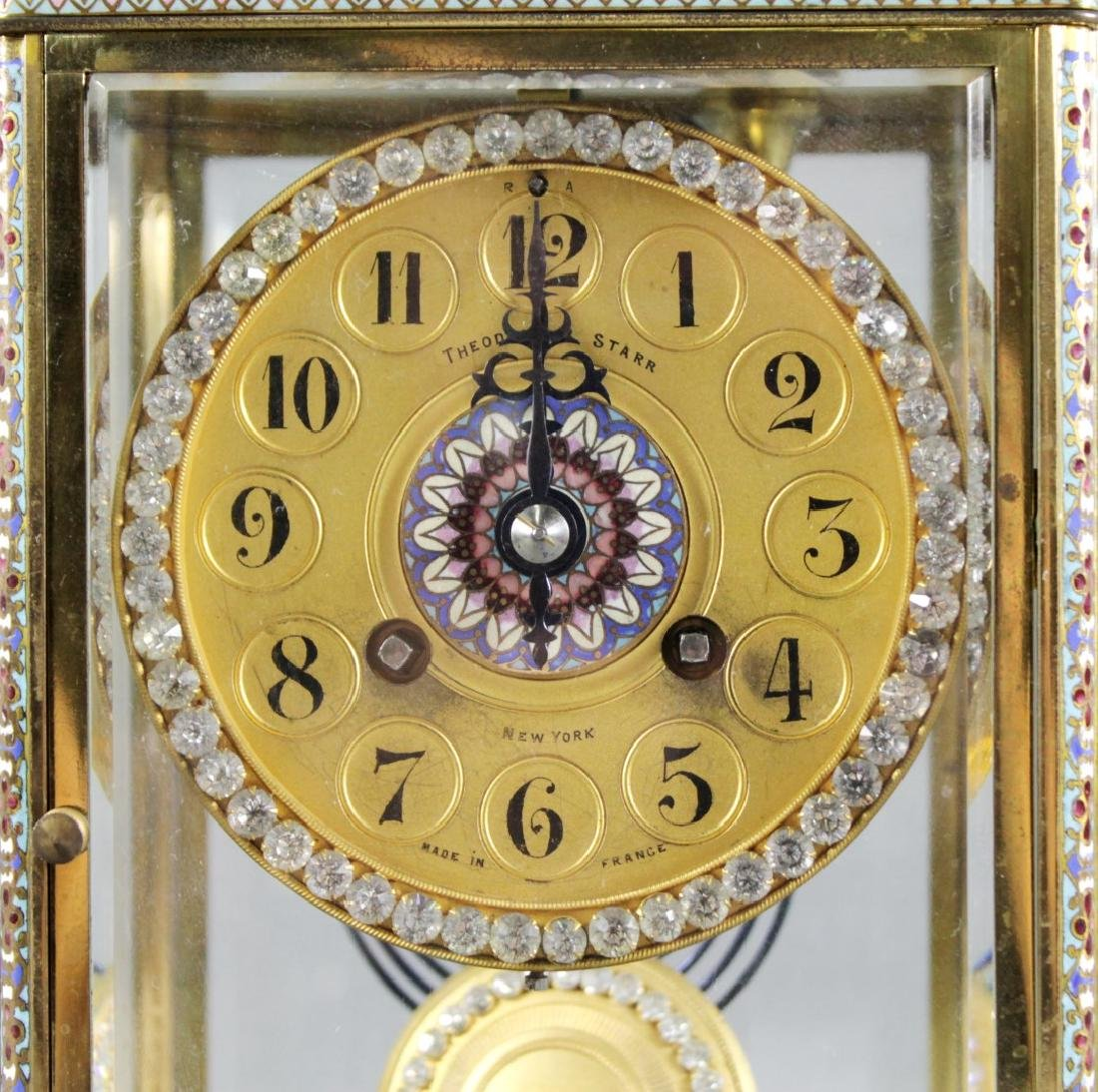 Theodore Starr French Crystal Regulator Mantle Clock, - 2