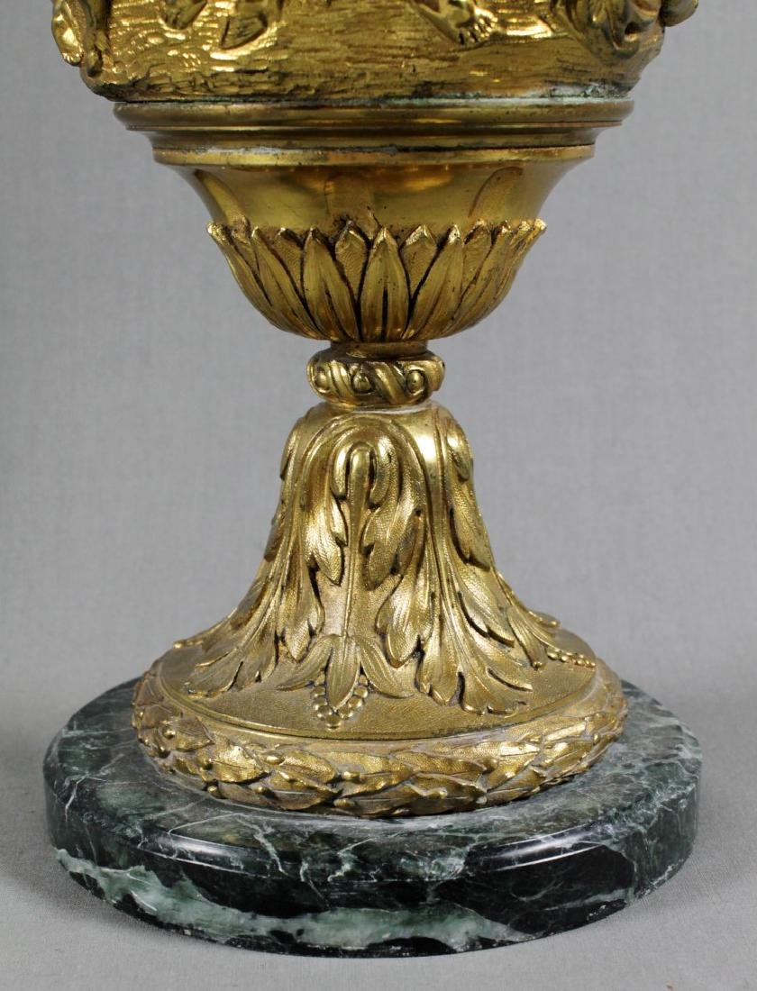 Dore Bronze Urn On Marble Base - 4