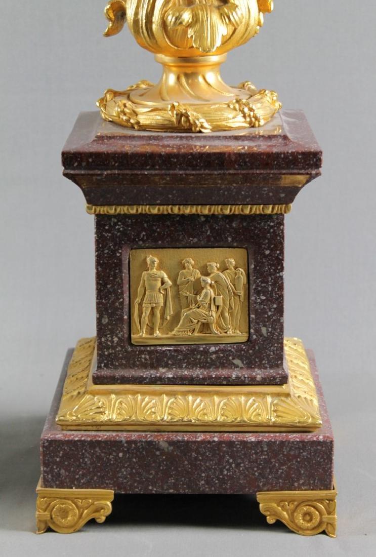 Pair Of Louis Xvi Style 4 Light Candelabras W/ Bronze - 2