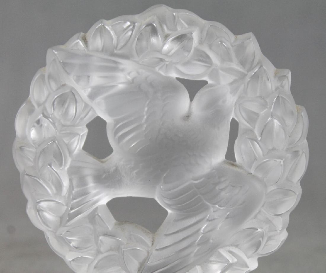 Lalique Glass Bird Pendant - 2