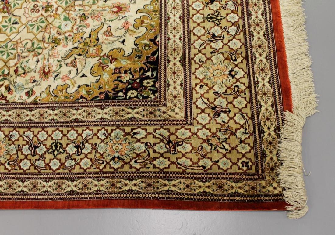 Qum Silk Rug Iran - 3