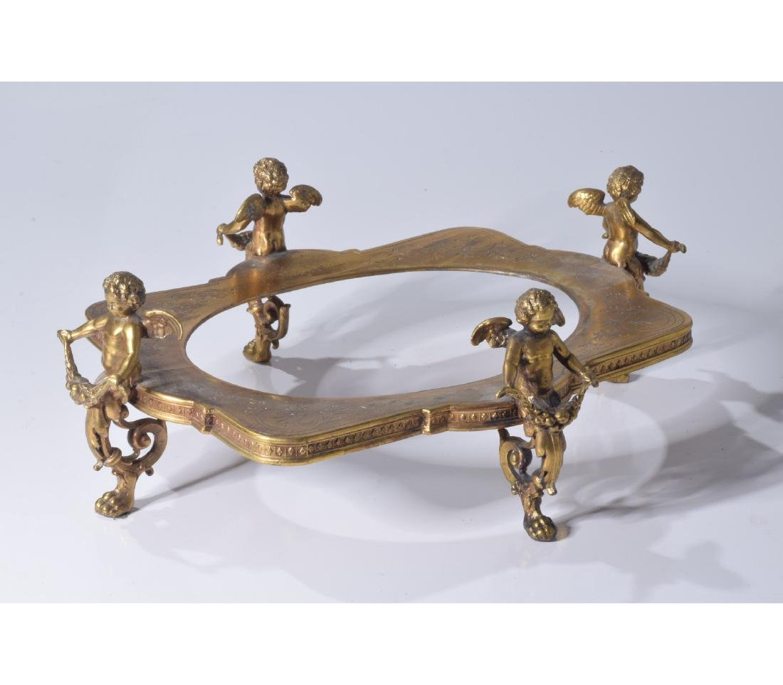 Early 20Th C. Gilt And Crystal Figural Centerpiece - 6