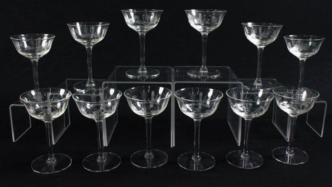 Etched Wine Glasses, 12 Pcs - 3