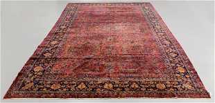 Antique Kashan Manchester Rug Iran