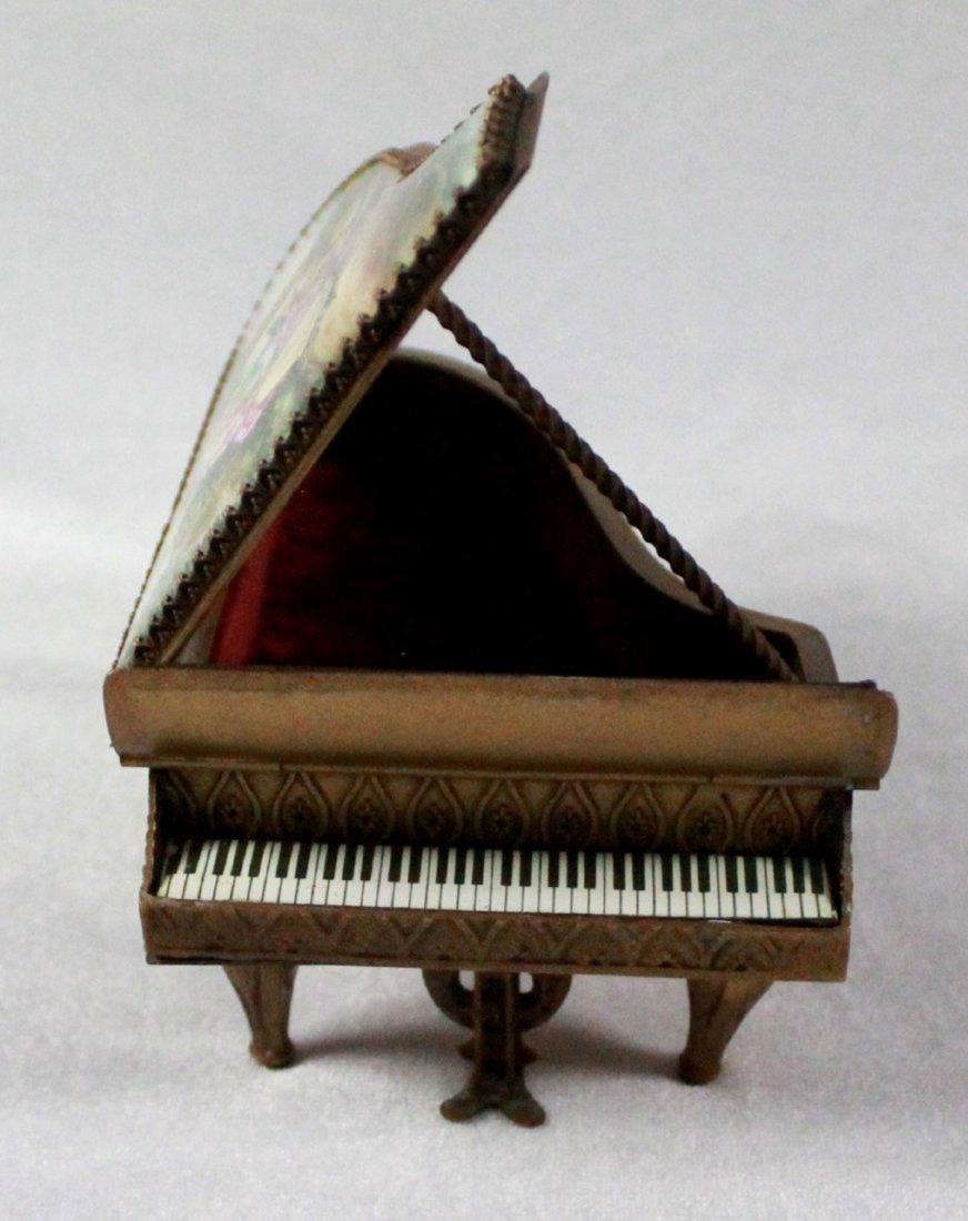 19Th C Viennese Enamel Miniature Piano - 8