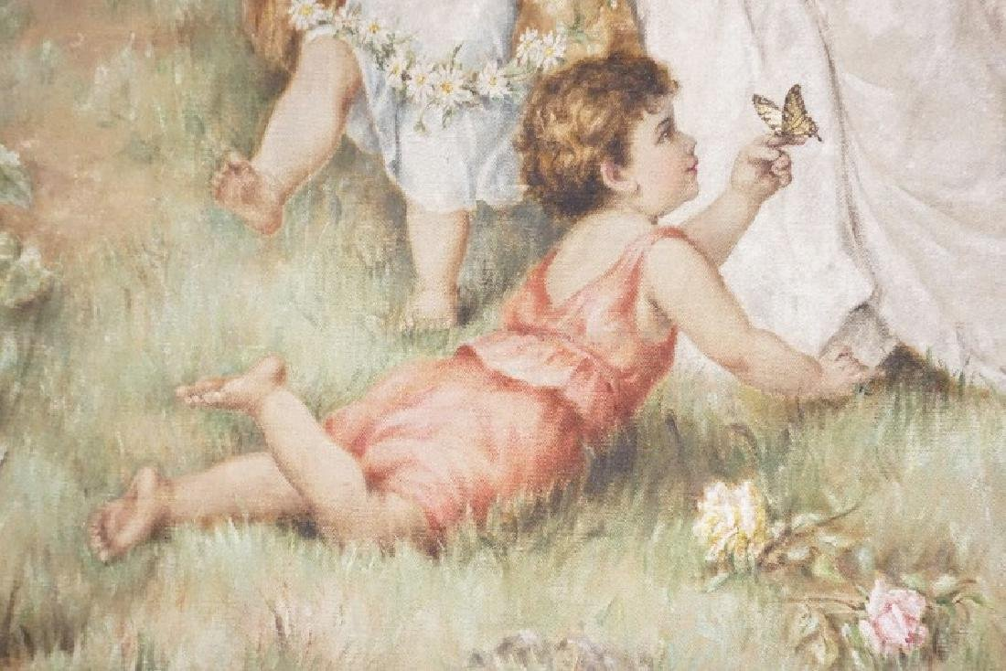 Large Lillian C. Harpel (American, 18Th/19Th C), Oil - 5