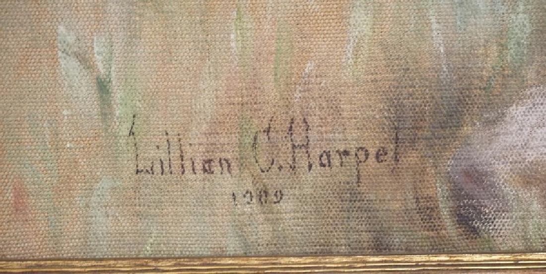 Large Lillian C. Harpel (American, 18Th/19Th C), Oil - 7