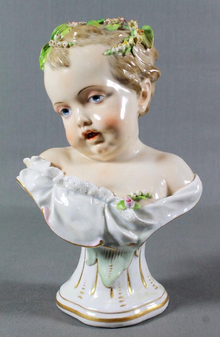 Meissen Continental Porcelain Kinderbusts Emblematic Of