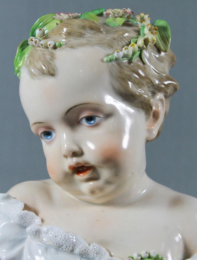 Meissen Continental Porcelain Kinderbusts Emblematic Of - 2