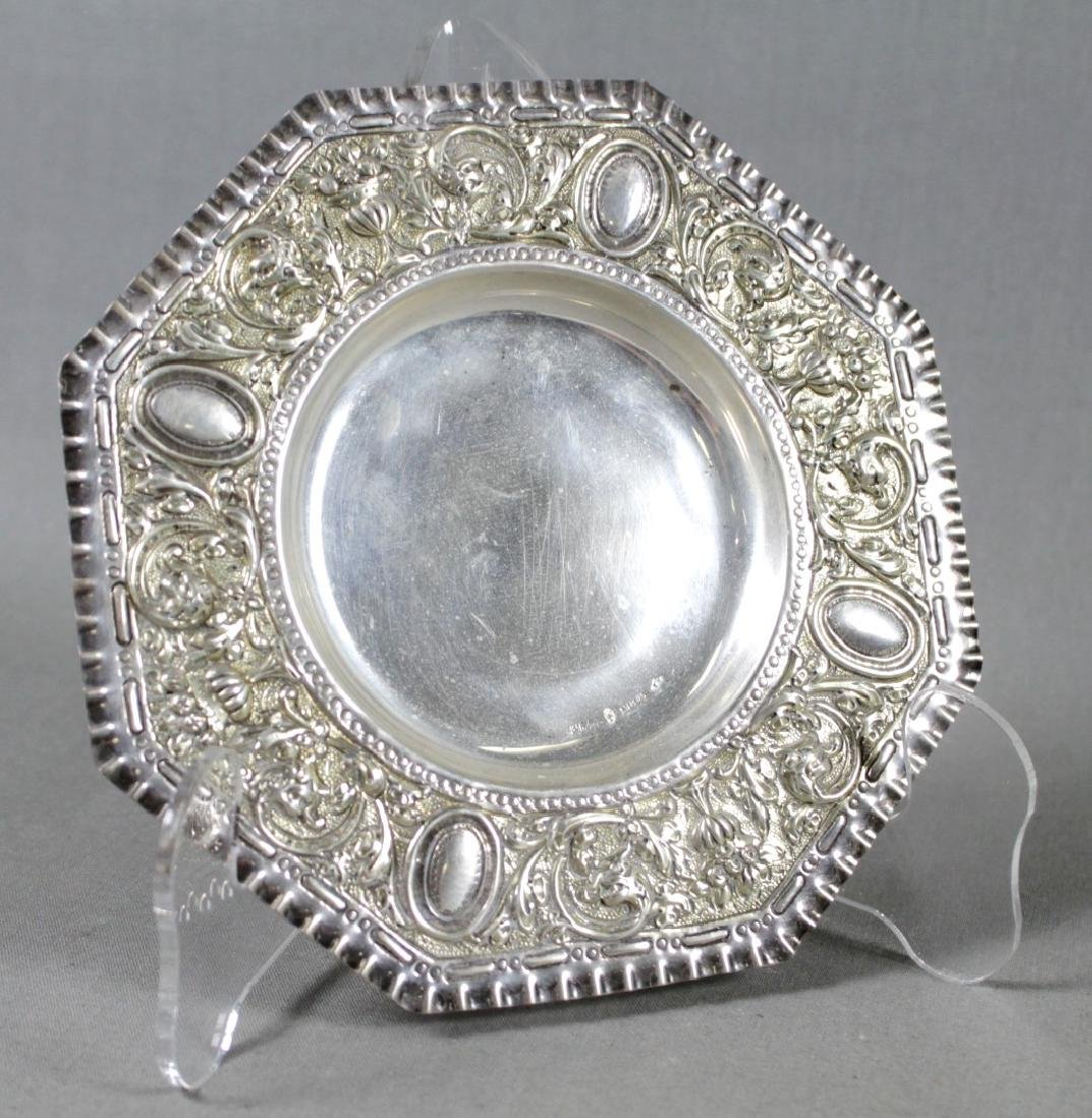 Set Of 12 Repousse Sterling Silver Dishes - 2