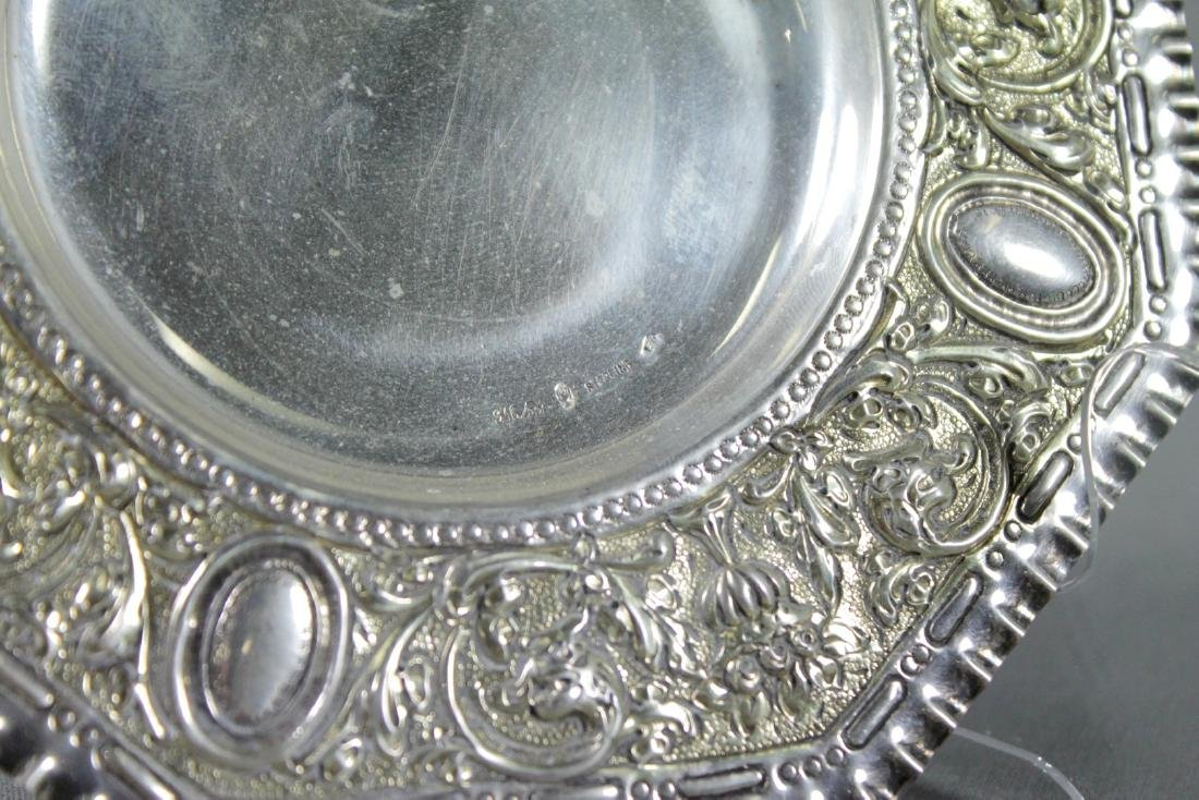 Set Of 12 Repousse Sterling Silver Dishes - 3