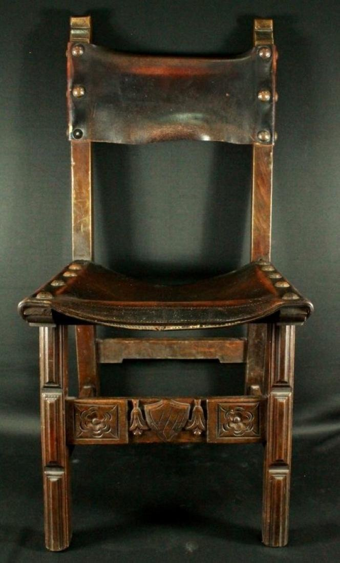 Pair Of Leather Chairs - 2