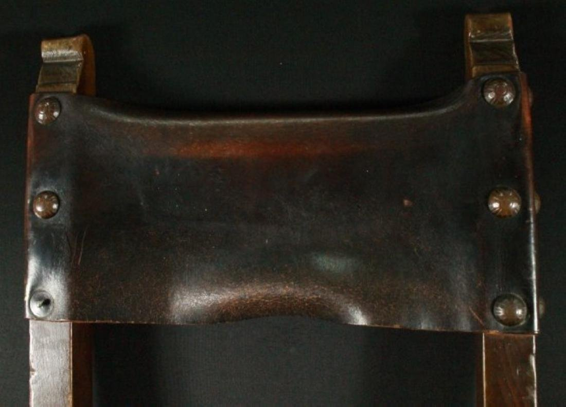 Pair Of Leather Chairs - 4