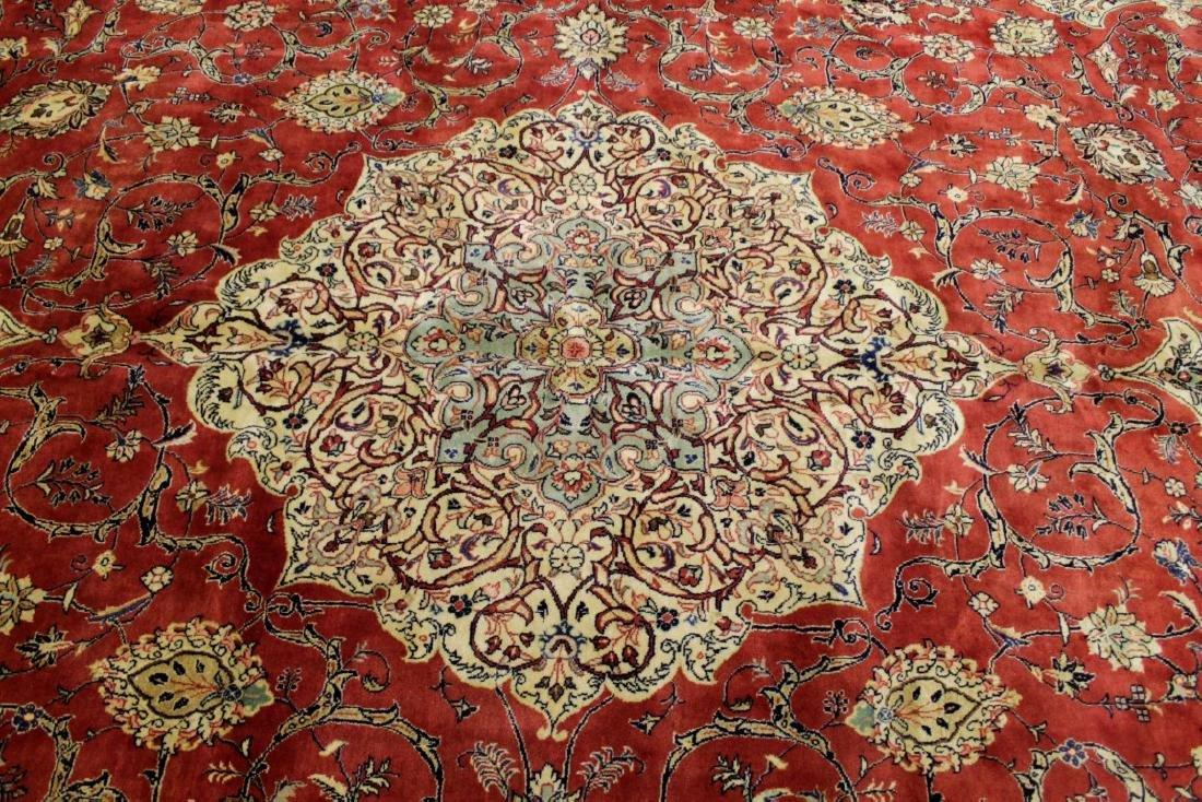 Antique Sarouk Wool Rug - 2