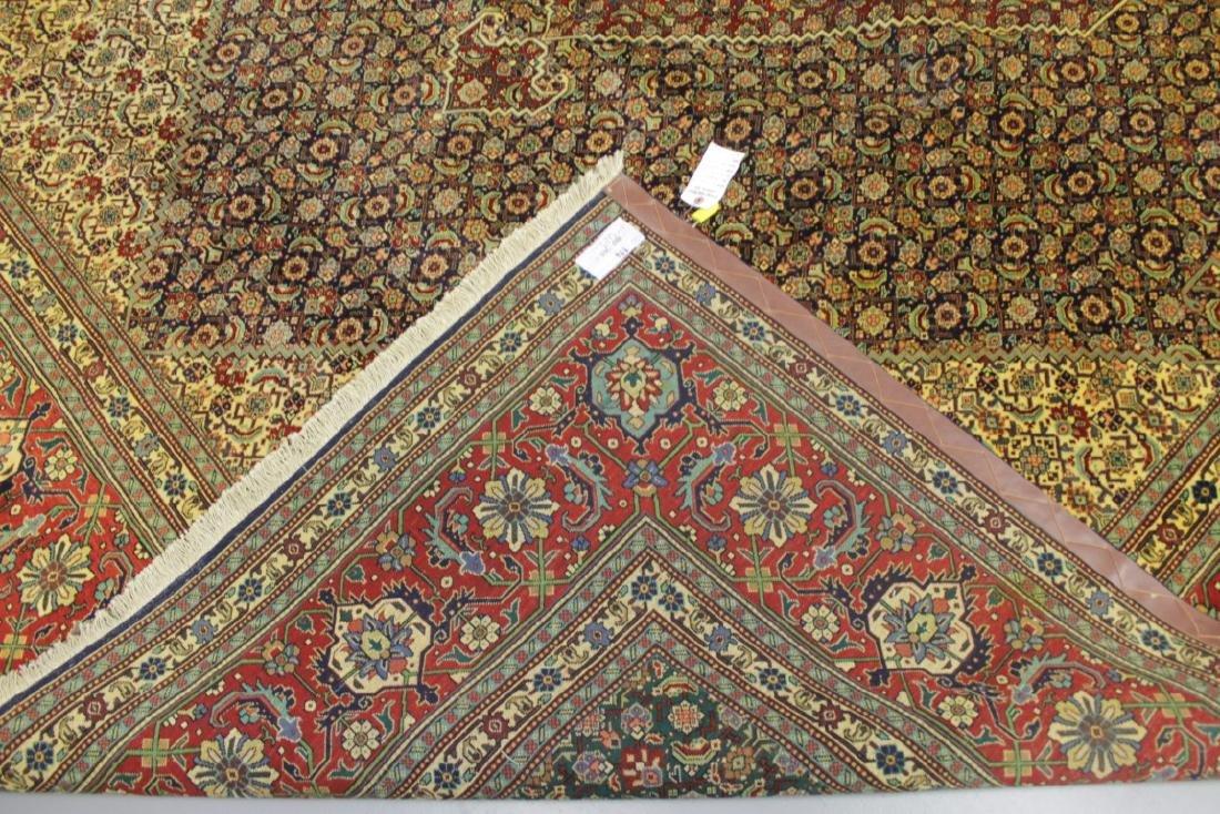 Tabriz Wool Silk Rug Iran - 4