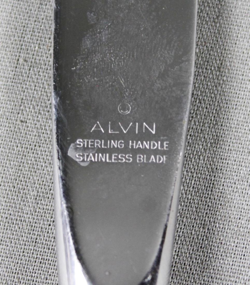 48 Pc. Alvin Sterling Silver Flatware Set - 8