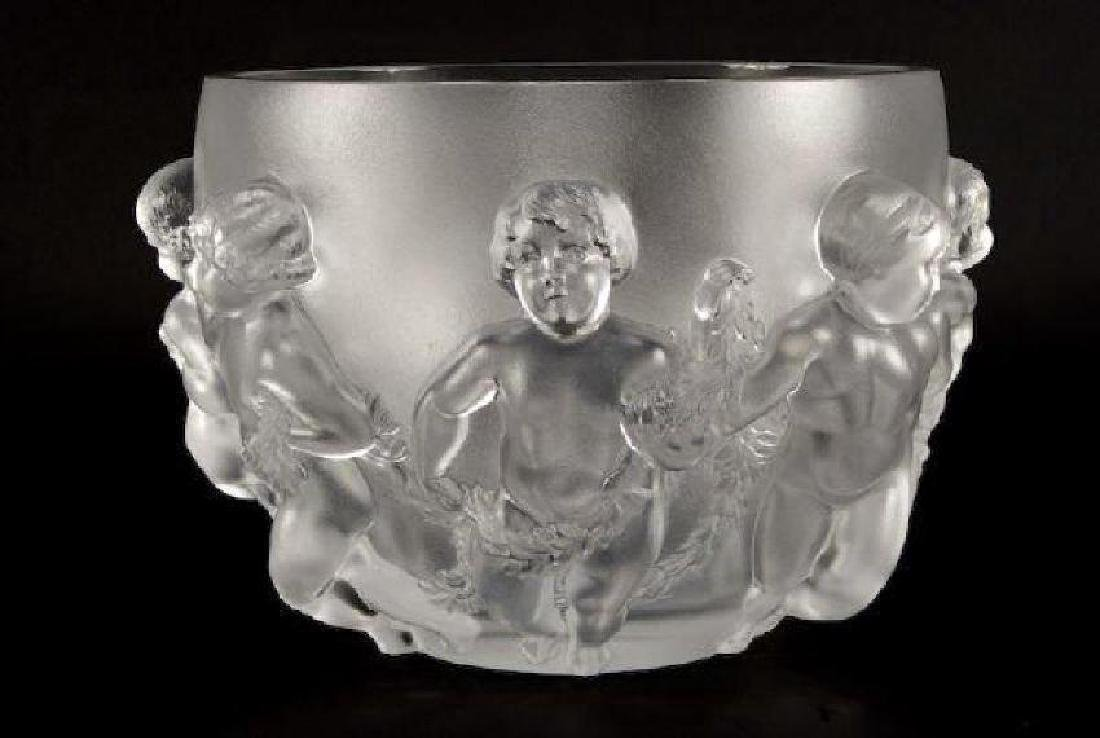 """Lalique """"Luxembourg"""" Crystal Vase"""