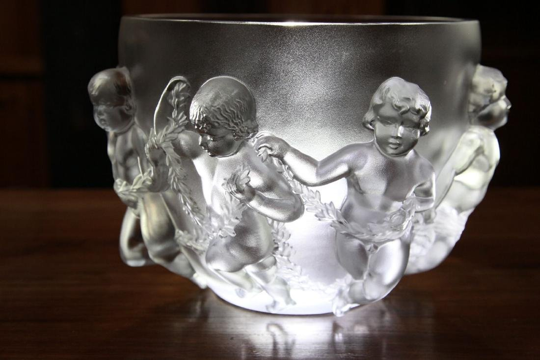 """Lalique """"Luxembourg"""" Crystal Vase - 3"""