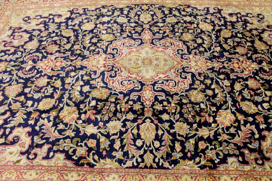 Antique Kerman Wool Rug Iran - 2