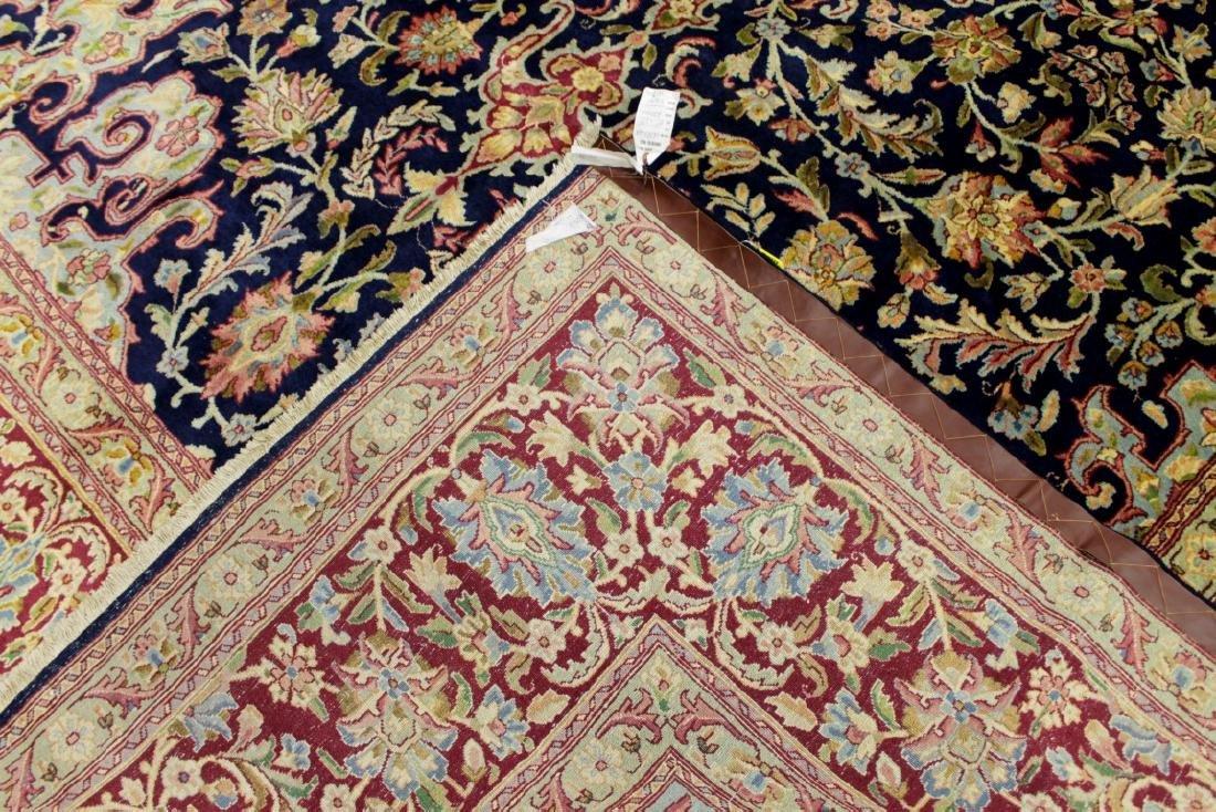 Antique Kerman Wool Rug Iran - 4