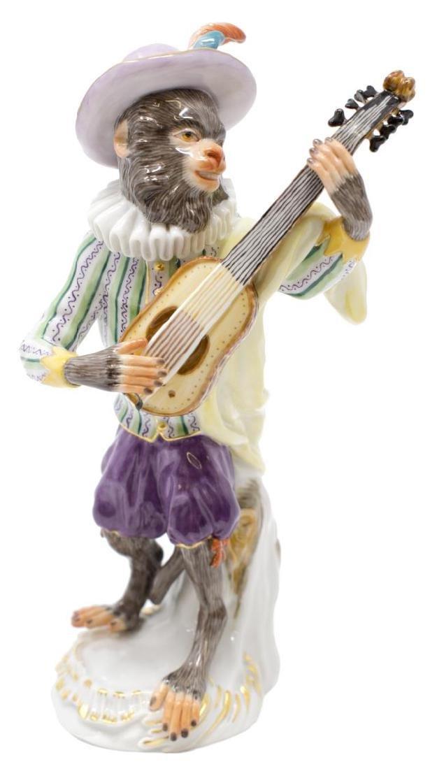 19Th C. Meissen Monkey Band Guitar Player