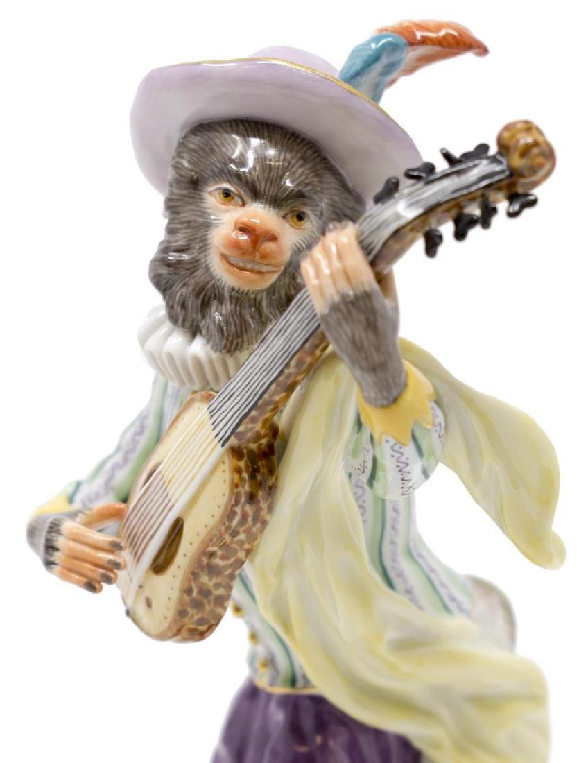 19Th C. Meissen Monkey Band Guitar Player - 2