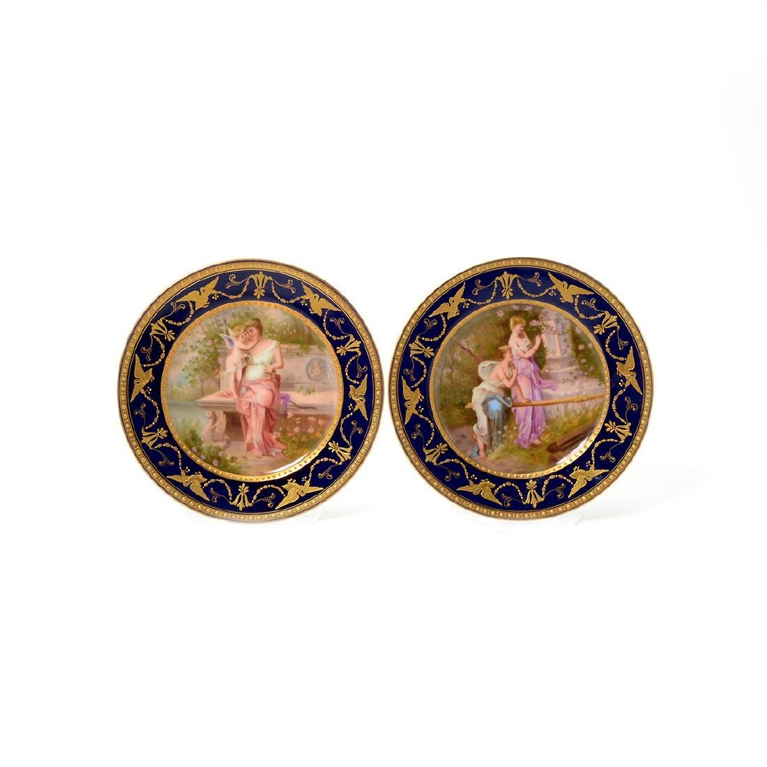 Six Vienna Style Porcelain And Gilt Cabinet Plates - 4