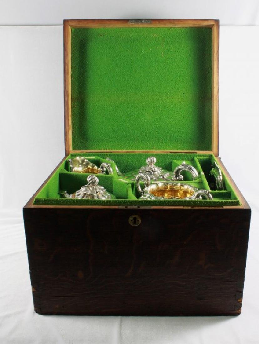 Victorian Sterling Silver Coffee And Tea Service,